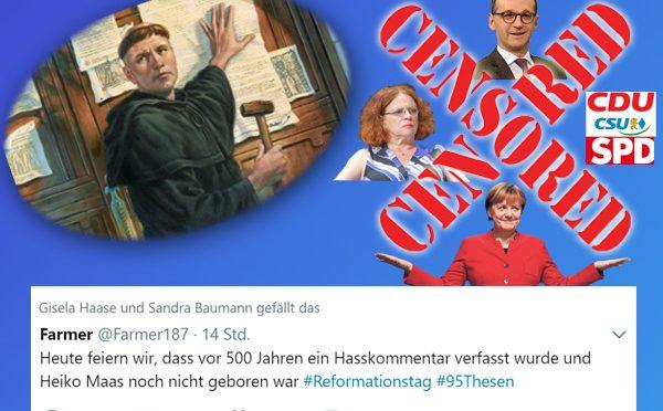 Luther aktuell wie nie - Maas SPD hätte Reformation verhindert