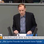 Bundestag > Debatte: Dr. Gottfried Curio zum Haushalt des Bundesinnenministeriums