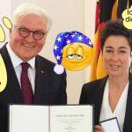 Bundesverdienstkreuz: Steinmeier schenkt Hayali Verdienstorden der Bundesrepublik Deutschland