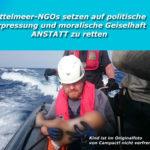 Mittelmeer > Schleusungen: NGOs versuchen die deutsche Gesellschaft mit Schockfotos zu erpressen