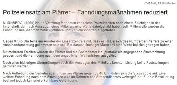 Merkel-Panikland > Nürnberg: Plärrer-Sperrung zur Rush-Hour