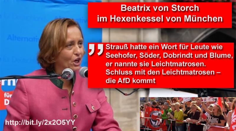 Beatrix von Storch im Hexenkessel von München  #bvs #afd #münchen #csu #reiter #hexenkessel