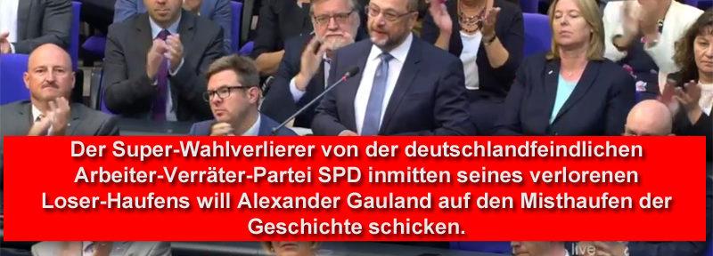 Super-Wahlverlierer und abgewrackter EU-Bürokrat Martin Schulz und der Misthaufen der Geschichte