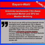 Bayern-Wahl: CSU-Basis auf der Seite von Merkel und SPD beim Maaßen-Mobbing
