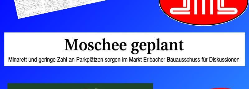 """Markt Erlbach, die Moschee und der """"Turm"""" im Bauausschuss"""