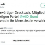 Niedrig-IQ-Künstler Levit und die AfD