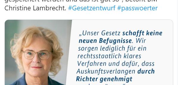 Justizministerin Lambrecht #SPD bedroht die Freiheit des Internets massiv