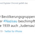 Was hätten die heutigen Nazisau- und Umweltsau-Verleumder wohl im Dritten Reich gebrüllt