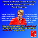 """Ratschlag an Giffey,SPD: erstmal """"sauber leben"""", dann """"Demokratie leben"""""""