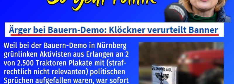 Da kommt das Merkel-Püppchen Klöckner aus der Deckung