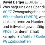 Grünlinke Extremisten verursachen Abbruch von Anti-GEZ-Demo in Köln