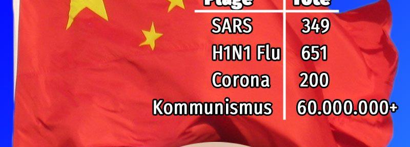 Die Chinesen regen sich über Corona auf und sind Heimat eines der schlimmsten Massenmörder aller Zeiten