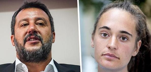 Schrottkapitänin Rackete wegen Salvini abgeblitzt und weiterhin selbst vor Gericht