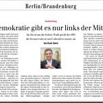 """""""Demokratie gibt es nur links der Mitte"""" SPD- Deppenkommentar zu Thüringen"""