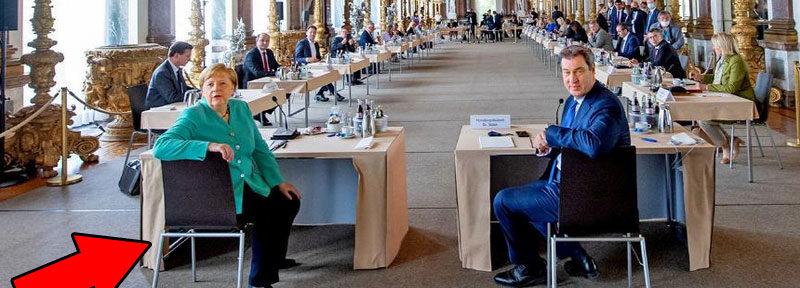 Gottkanzlerin Merkel und Bayernkini Söder in Prunk und Pracht - das macht Mut, das gibt Hoffnung