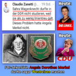 Gottkanzlerin Merkel von der CDU war in der DDR regimetreuer als Sahra Wagenknecht von der Linkspartei