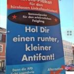 Abreissplakat für die #Linksfaschisten von der rotz-drecks-#antifa