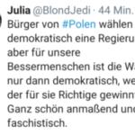 Frau Merkel - bitte die Wahlen in Polen rückgängig machen