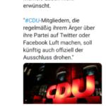 Mit Merkel sind DDR-Methoden immer gegenwärtig, und wenn es in der CDU ist