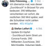 EU-Milliarden wie Perlen vor die Säue geworfen - Merkel und Macron in Höchstform