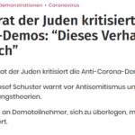 ZdJ-Präsident Schuster hetzt mit Söder-Aussagen gegen Freiheitsdemo - Totschlagargument  Antisemitismus verschleisst