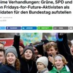 Neuer Marsch durch die Institutionen - Linke, Grüne und SPD wollen Klimahüpfer mandatiert in den Bundestag schleusen