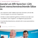 Der frühere FDP-Politiker Lüth ist mit Sicherheit bei der AfD falsch mit seinen kruden Ansichten zur Massenmigration